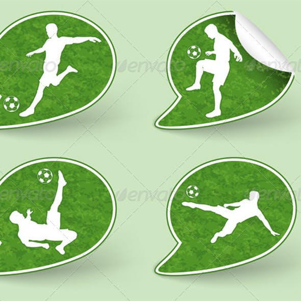 Collect Sticker with Football Players Icon