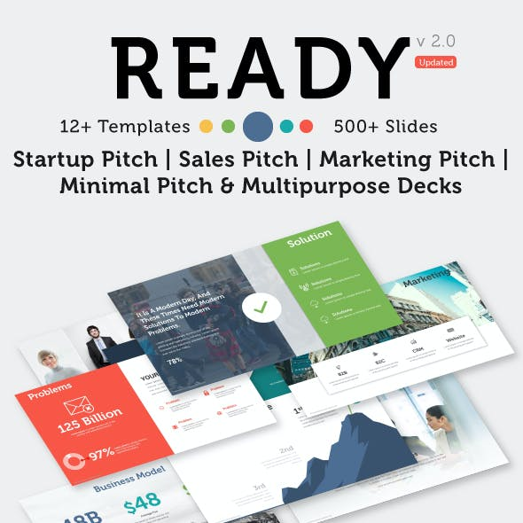 Ready | Startup Pitch Deck PowerPoint Template - Multipurpose PowerPoint
