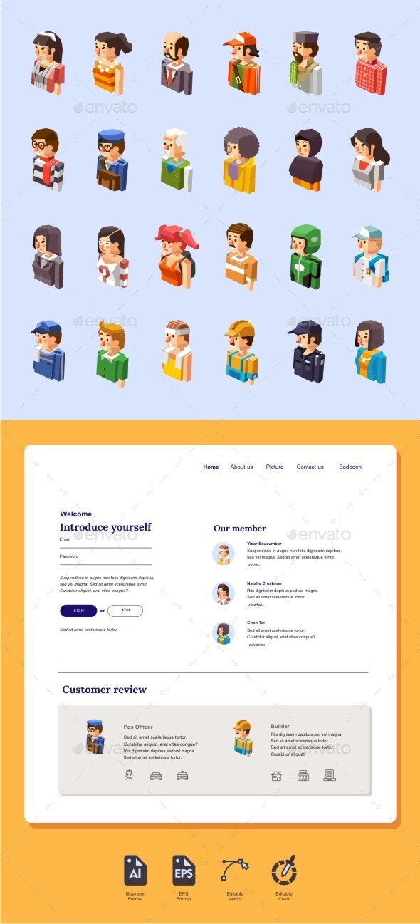 Isometric Avatar - People Characters