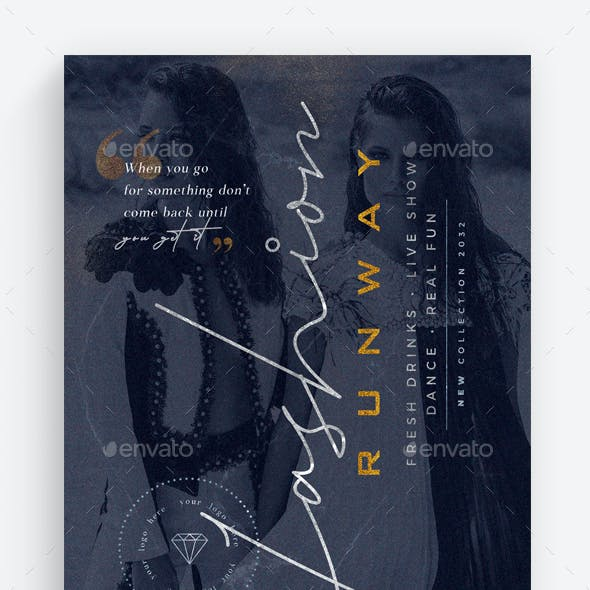 Fashion Runway Flyer Template