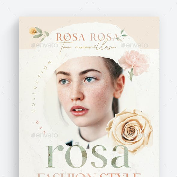 Rosa Fashion Style Flyer Template