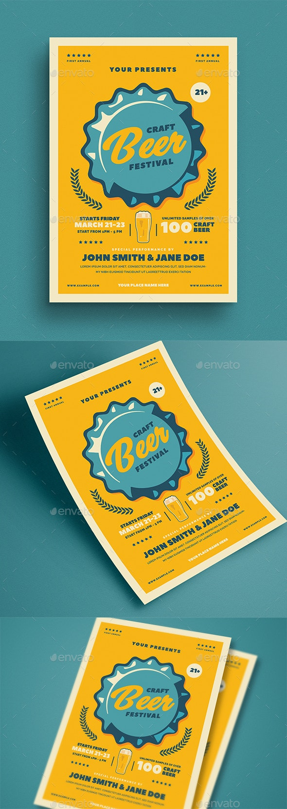 Craft Beer Festival Event Flyer - Flyers Print Templates