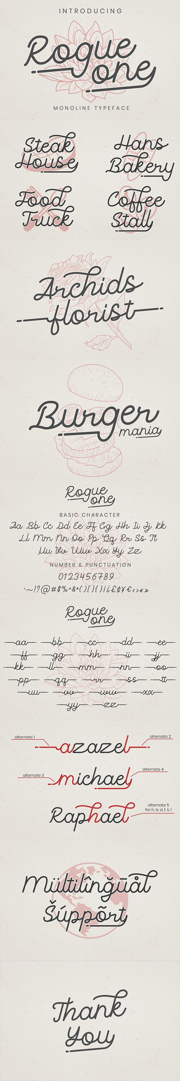 Rogue one - Script Fonts