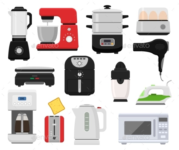 Household Appliances Vector Kitchen Homeappliance