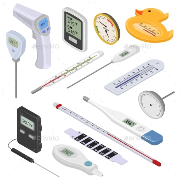 Thermometer Vector Tempering Measurement Celsius - Health/Medicine Conceptual