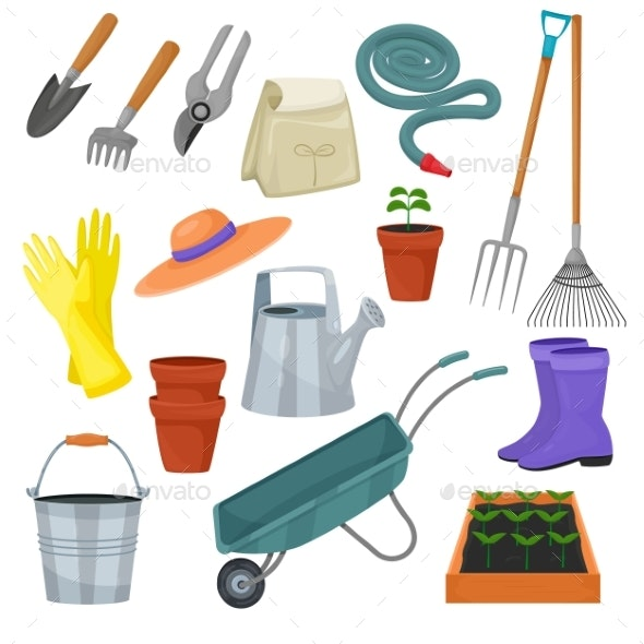 Garden Tool Vector Gardening Equipment - Flowers & Plants Nature