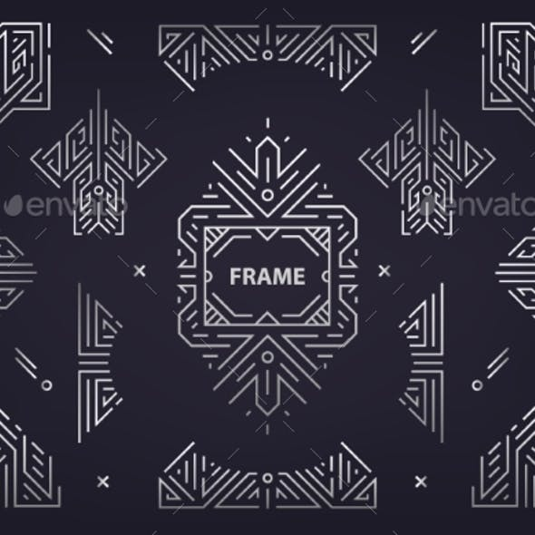 Vector Set of Abstract Geometric Design Elements