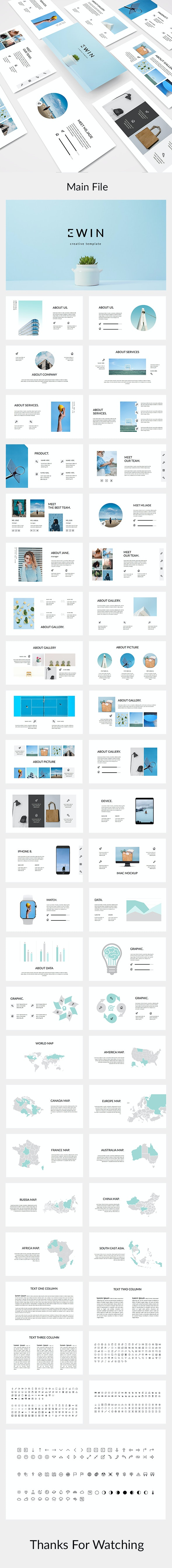 Ewin - Creative Google Slides Template - Google Slides Presentation Templates