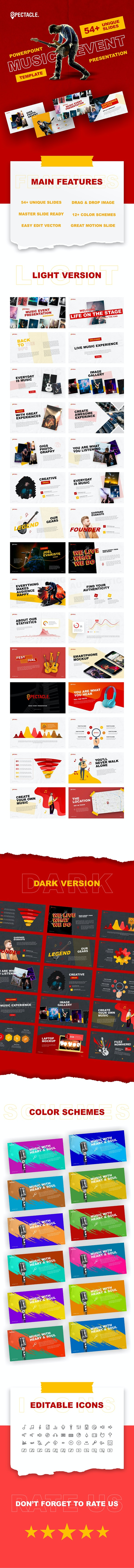 Spectacle - Music Event PowerPoint Template - PowerPoint Templates Presentation Templates