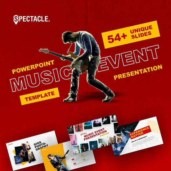 Spectacle - Music Event PowerPoint Template