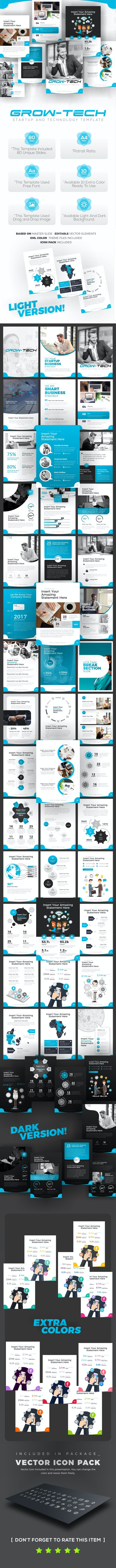 Grow-Tech Portrait Business PowerPoint Template - PowerPoint Templates Presentation Templates