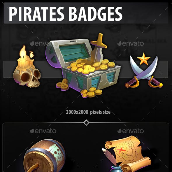 Pirates badges