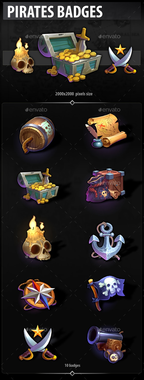 Pirates Badges - Miscellaneous Game Assets