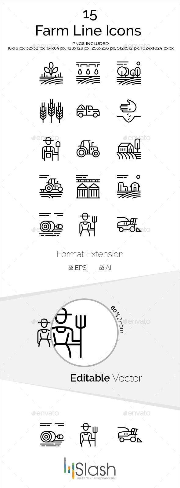 Farm Line Icons - Miscellaneous Icons