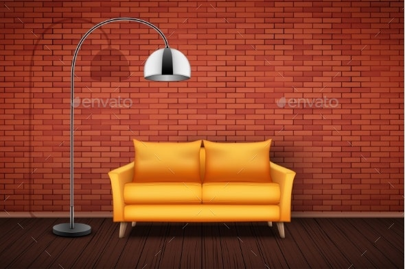Interior of Living Room and Loft - Sports/Activity Conceptual