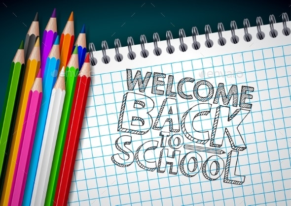 Back to School Design with Colorful Pencils - Miscellaneous Vectors