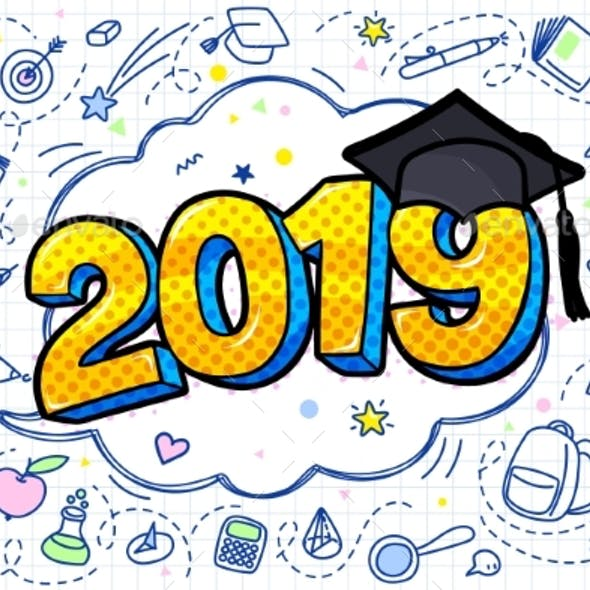 Concept of a Graduating Class of 2019