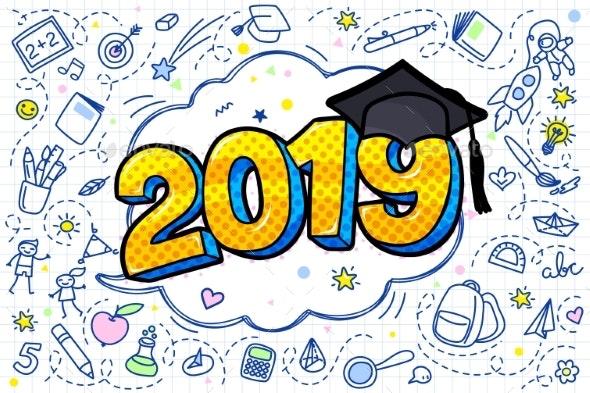 Concept of a Graduating Class of 2019 - Miscellaneous Vectors