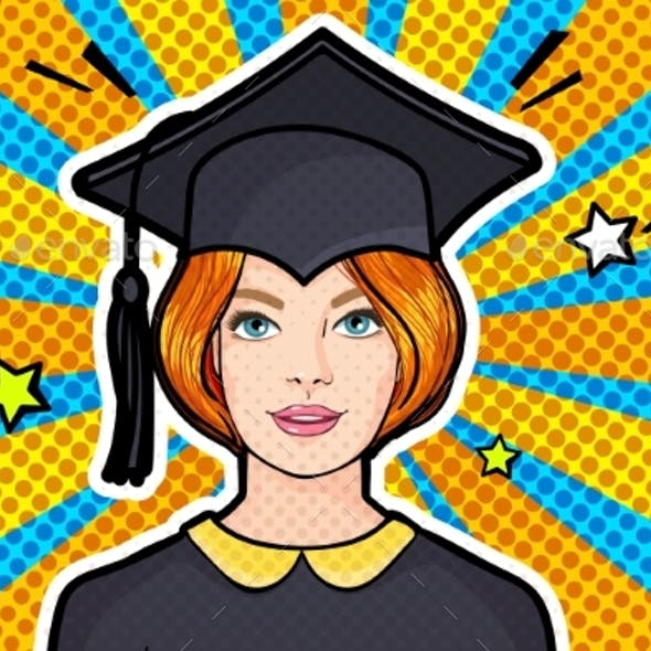 Concept of a Graduating Class Girl in Graduation