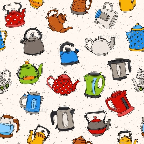 Teapot and Kettle Vector Teakettle To Drink Tea - Food Objects