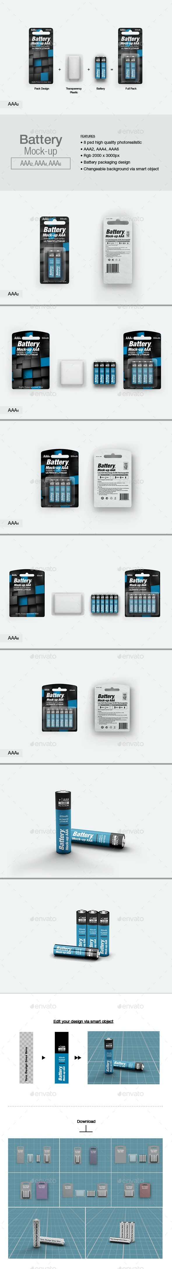 Battery AAA Mock-up - Miscellaneous Packaging