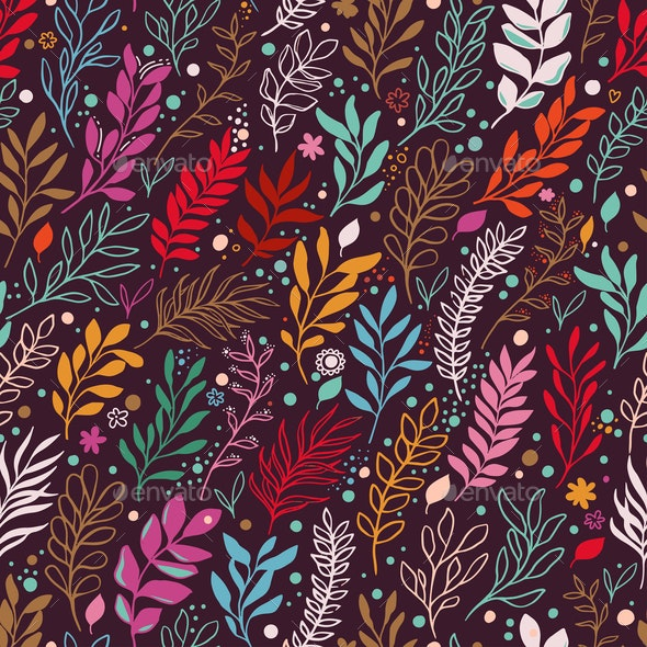 Floral seamless Pattern - Miscellaneous Vectors
