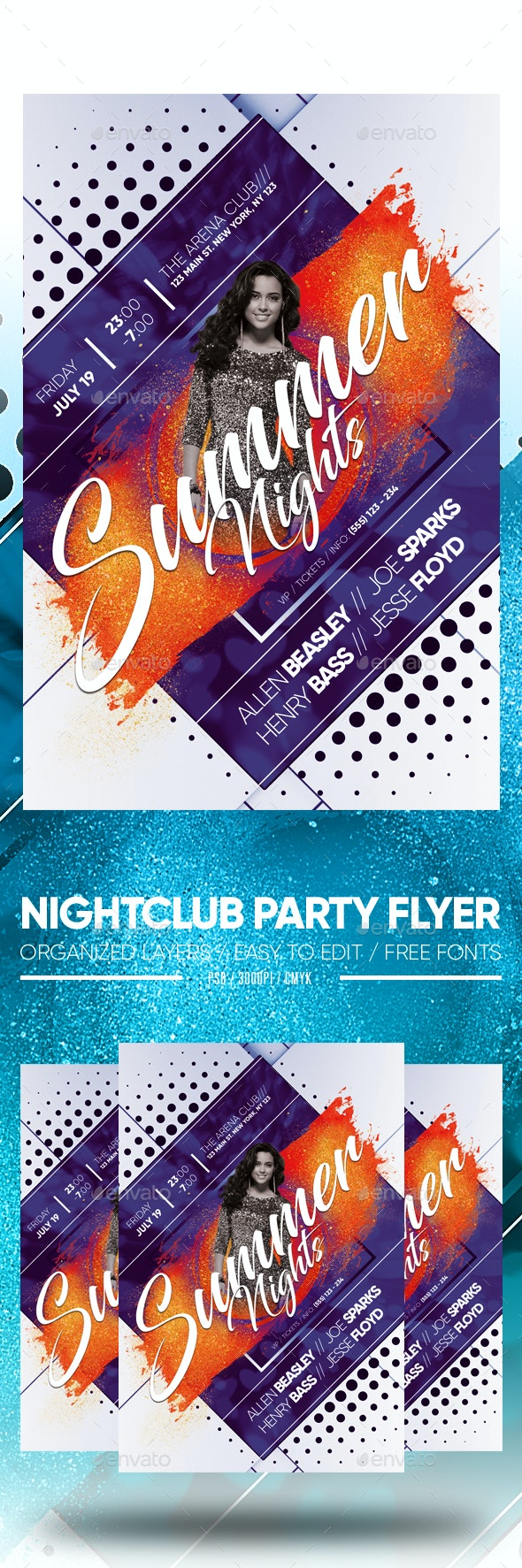 Nightclub Party Flyer - Clubs & Parties Events