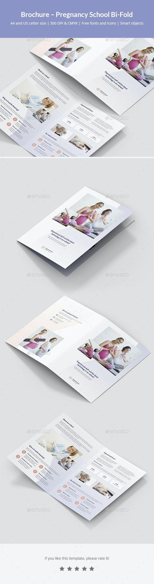 Brochure – Pregnancy School Bi-Fold - Informational Brochures