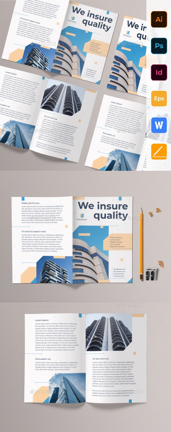 Insurance Agency Bifold Brochure - Corporate Brochures