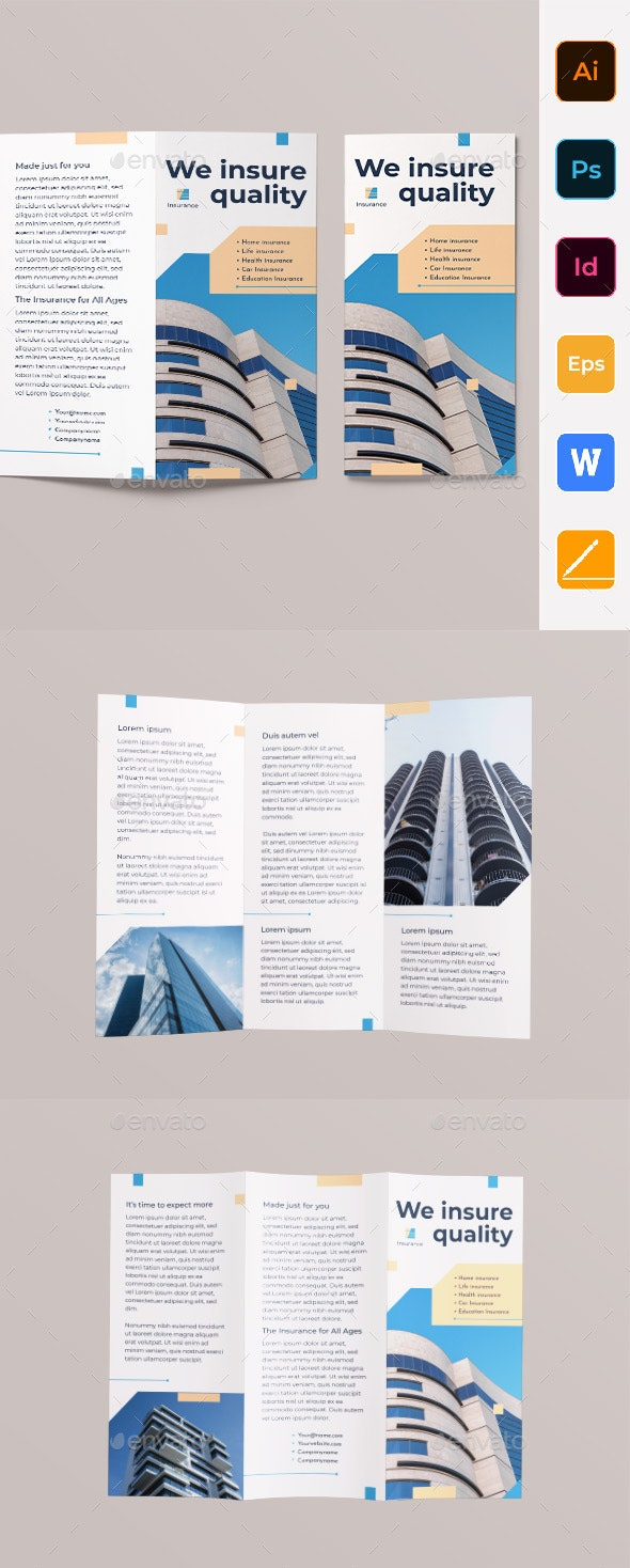 Insurance Agency Trifold Brochure - Corporate Brochures