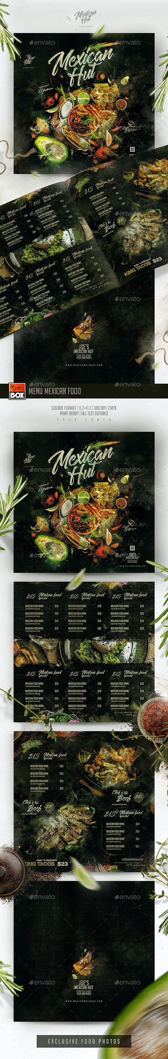 Menu Mexican Food - Food Menus Print Templates