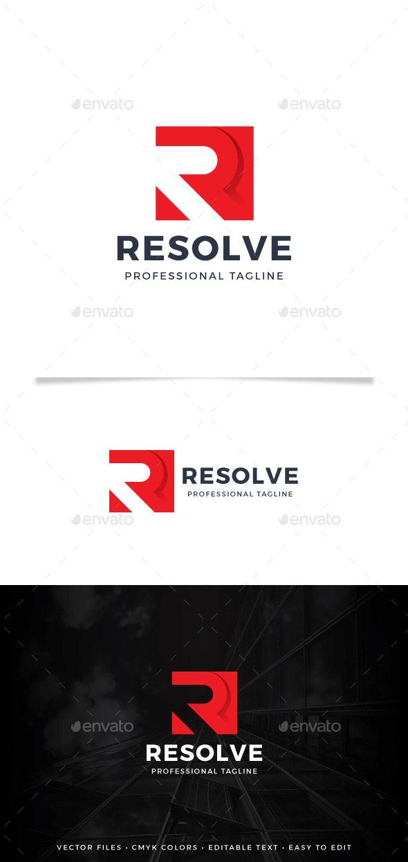 Resolve Logo - Letters Logo Templates