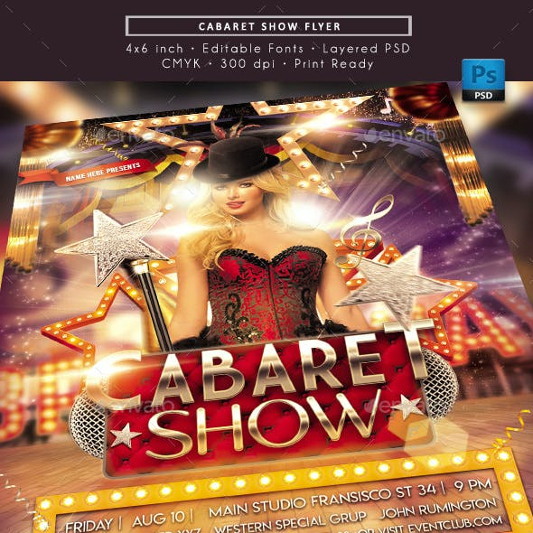 Cabaret Festival Show Flyer
