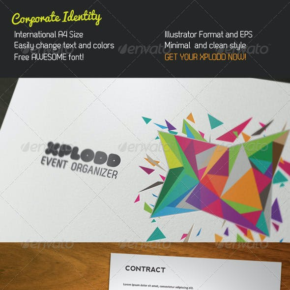 Color Explosion Stationery