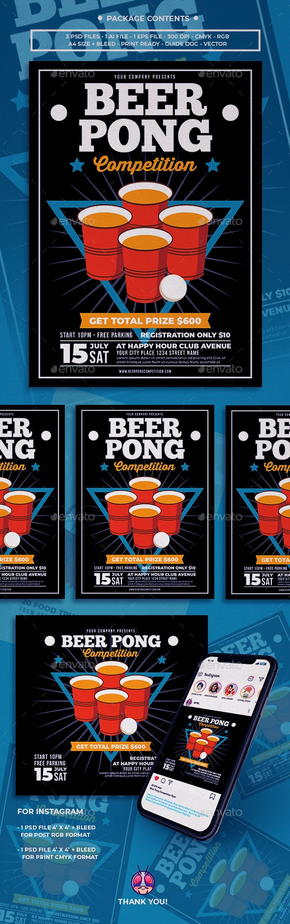 Beer Pong Competition Flyer - Clubs & Parties Events