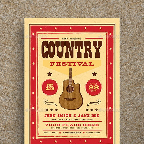 Country Festival Music Flyer