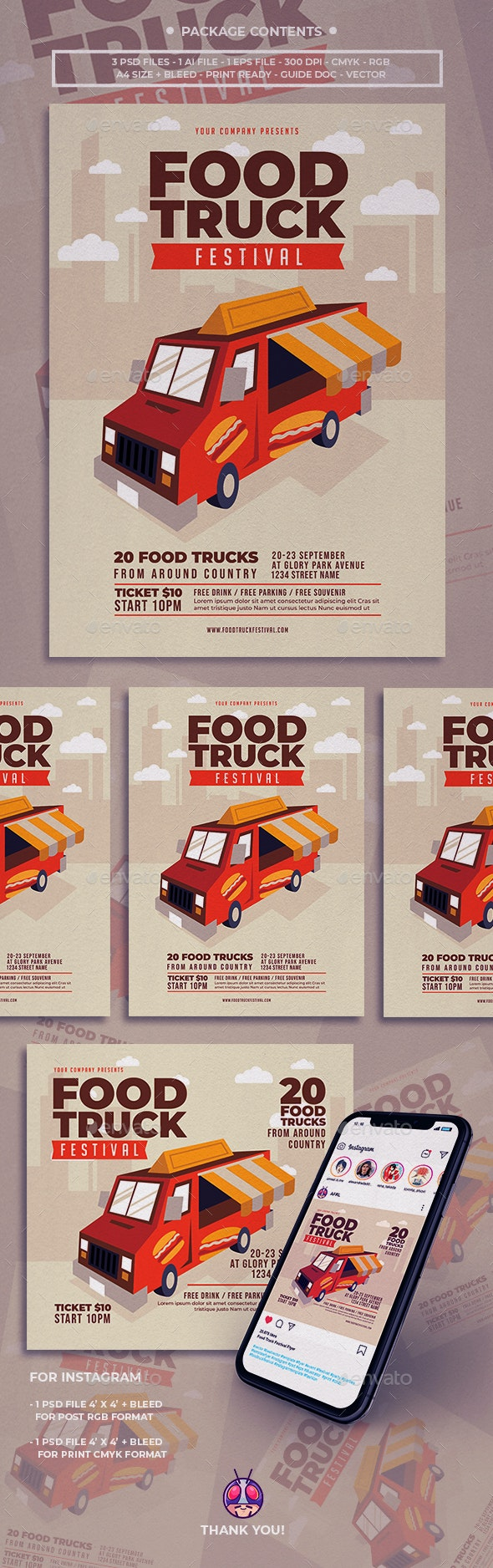 Food Truck Festival Flyer - Clubs & Parties Events
