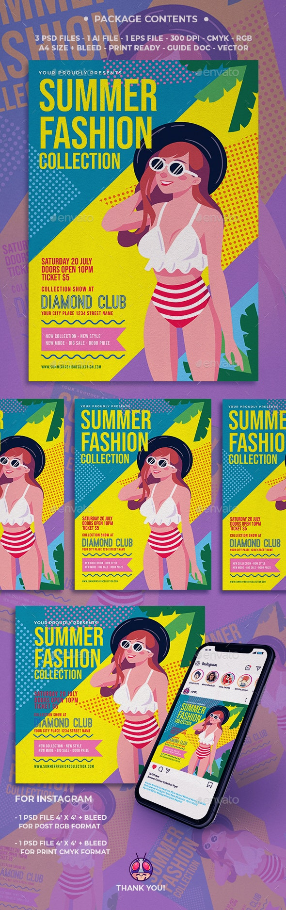 Summer Fashion Collection Flyer - Clubs & Parties Events