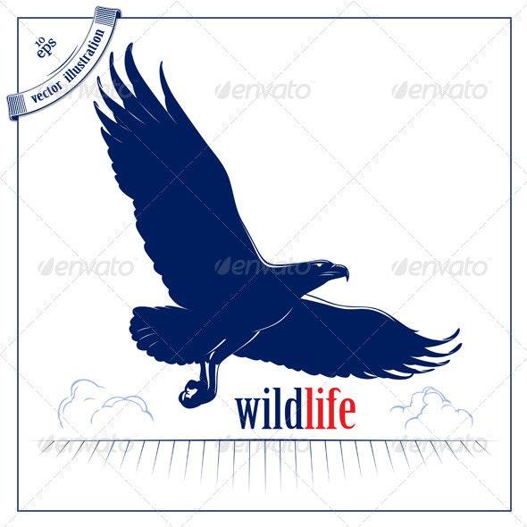 Cartoon Eagle Flying - Animals Characters