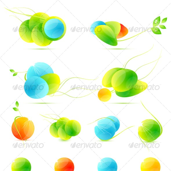 Abstract summer icons