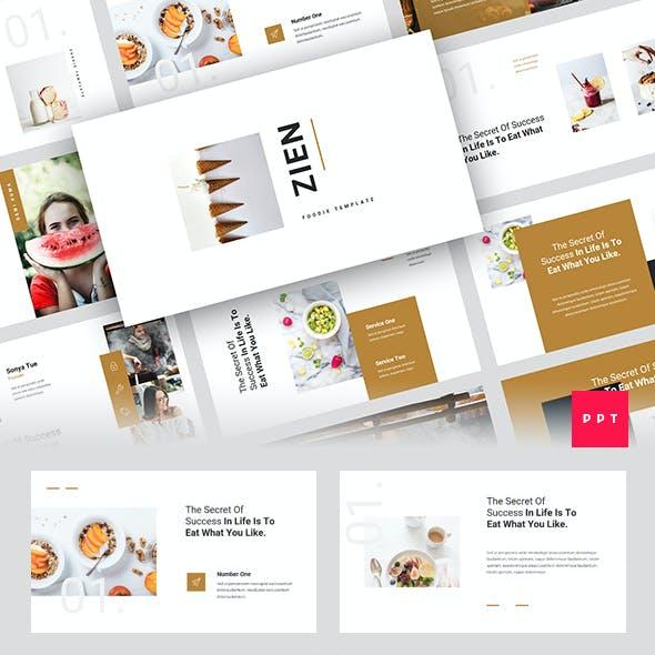 Zien - Food PowerPoint Template
