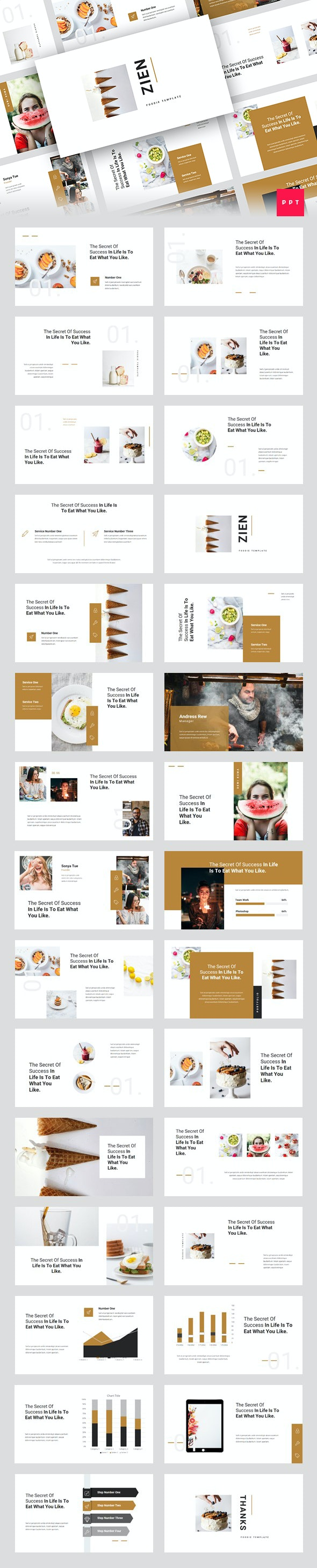 Zien - Food PowerPoint Template - Miscellaneous PowerPoint Templates