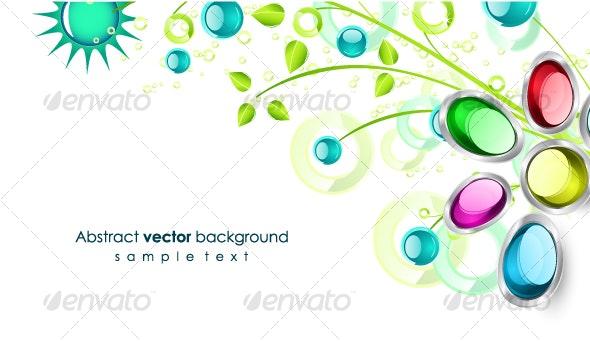 Floral corner design - Backgrounds Decorative