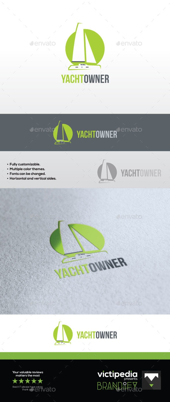 Modern Yacht Logo - Abstract Logo Templates