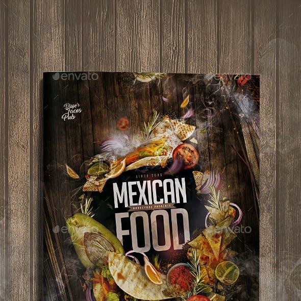Menu Mexican Food Template