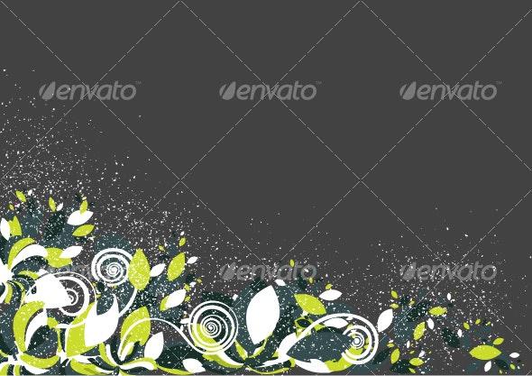 Floral background design pattern in vibrant shades - Decorative Vectors