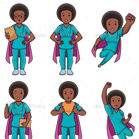 Super Nurse African Female Set