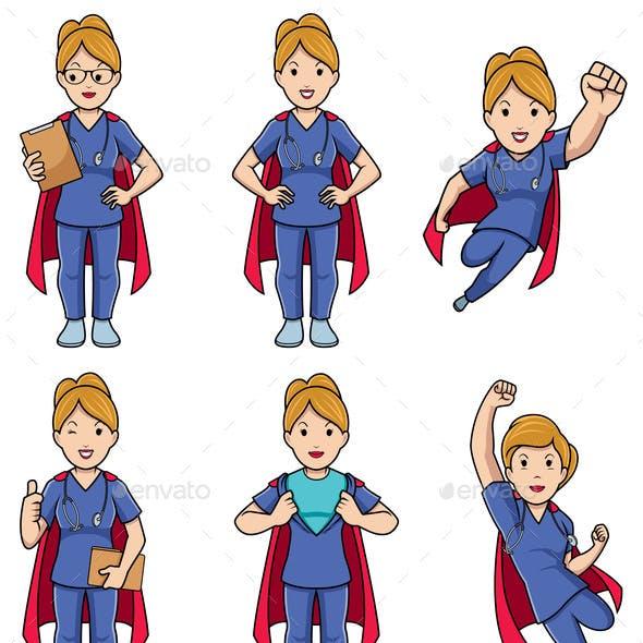 Super Nurse Caucasian Female Set