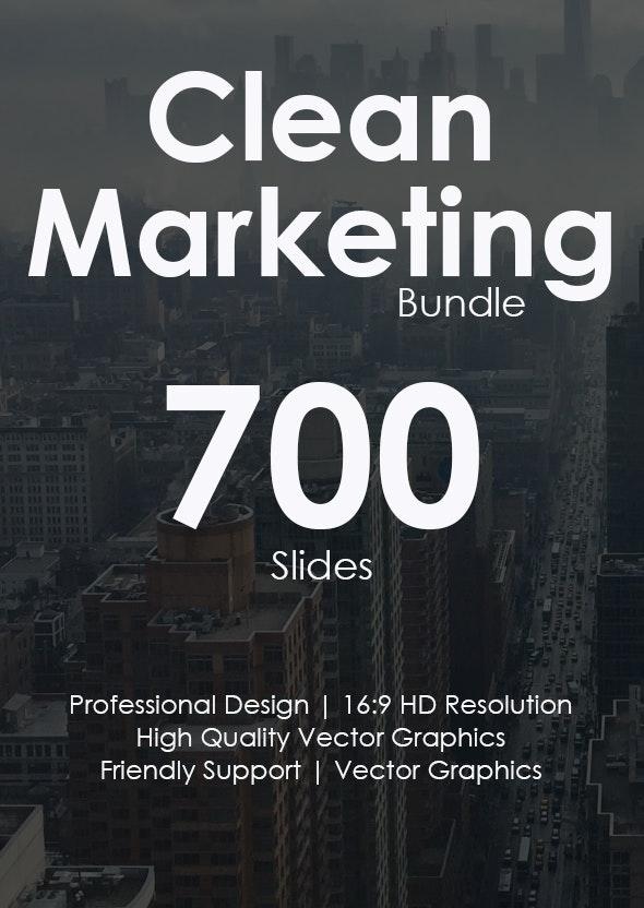 Clean Marketing Google Slides Bundle - Google Slides Presentation Templates