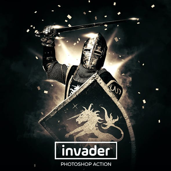 Invader Photoshop Action